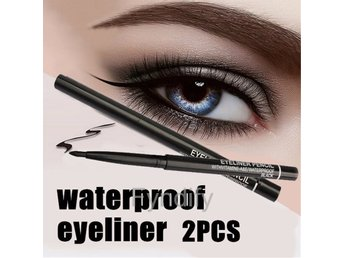 2pcs Waterproof Eyeliner Pen Eye Liner Pencil Makeup Cosmetic Tool
