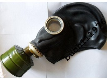 WW2 USSR RUBBER RUSSIAN GAS MASK GP-5 Black Military VINTAGE new
