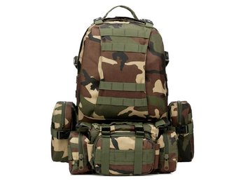 50L Ryggsäck Backpacker Camping / Camoflash