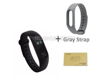 Xiaomi Mi Band 2 + Screen Protector + Gray Strap Fri Frakt Helt Ny