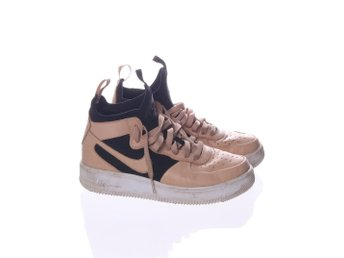 Nike, Skor, Air force 1, Strl: 38, Beige/Svart