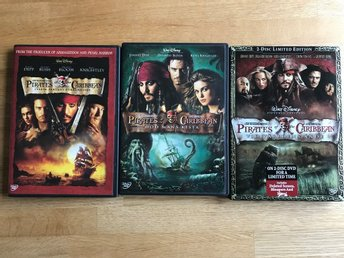Pirates of the Caribbean -  3 filmer - DVD