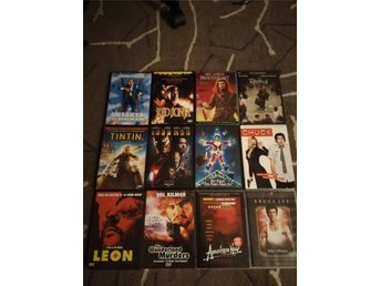 12 st DVD filmer, Tintin, Leon, braveheart, The terminal, red Sonja mm