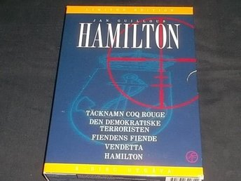5  x  HAMILTON. Jan Guillou.  Box.  6-DVD.  Fint skick.