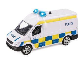 VN Leksaker - Resque Team - Polis Van - Light & Sounds Pullback 40707 NY