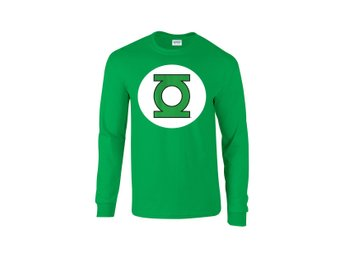 GREEN LANTERN LOGO GREEN  LONG SLEEVE DC COMICS - Small