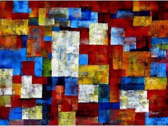 Abstrakt, 90x120 cm oljemålning - Tollarp - Abstrakt, 90x120 cm oljemålning - Tollarp