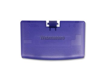 Gameboy Advance Batterilucka Clear Purple