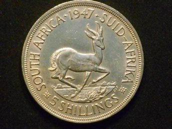 SILVERMYNT (S...AFRICA 5 SHILLINGS 1947