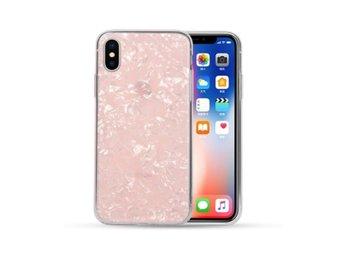 iPhone 7 8 Plus Mobilskal Rosa Genomskinlig Diamant Mönster