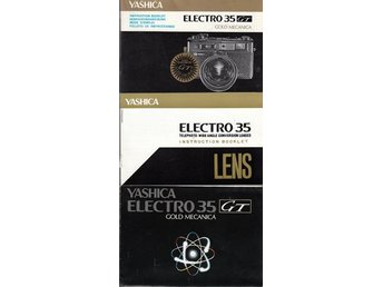 Yashica Electro GT Gold Mecanica instruction booklet (ENG)