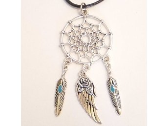 Vinge drömfångare halsband / Wing dreamcatcher necklace