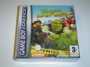 Shrek Smash n Crash Racing Nintendo Gameboy Advance GBA *NYTT*