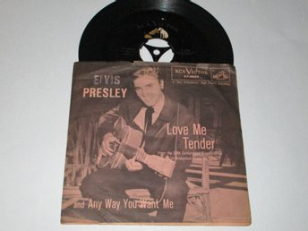 ELVIS PRESLEY US SINGEL LOVE ME TENDER