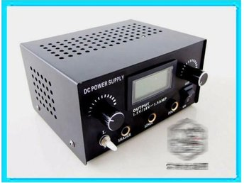 Professional Dual Digital LCD Tattoo Power Supply Rostfritt
