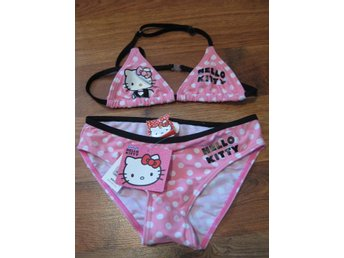 Bad Bikini Hello KItty rosa med prickar 9-10 år THN