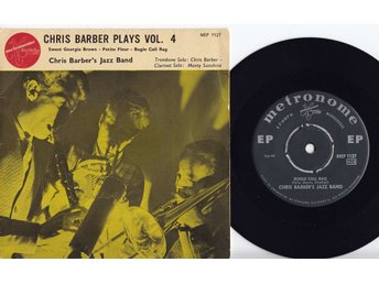 CHRIS BARBER'S JAZZ BAND - PLAYS VOL 4 - EP 1956 - DK/SWE