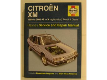 Haynes service and repair manual Citroen XM 1989- 2000.