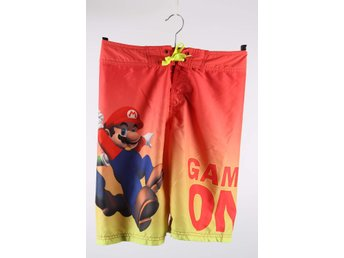 Badshorts, H&M, Super Mario, orange, stl. 158/164