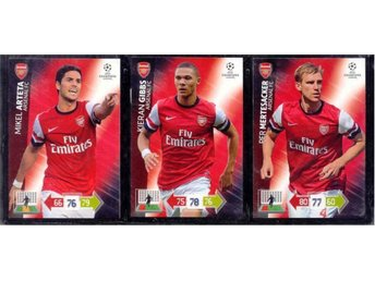 3 ARSENAL  Champions League 2012/2013 - MERTESACKER + GIBBS +ARTETA