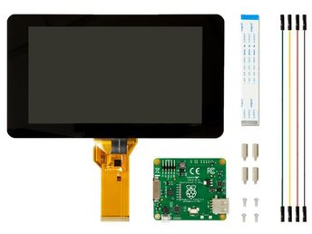 "Raspberry Pi 7"" LCD-touchskärm Raspberry Pi, 10-punk kapacativ, svart"