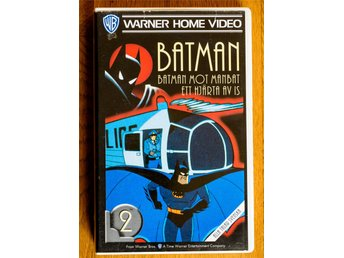 Batman the animated series Nr. 2 Avsnitt 1 och 2 VHS Svenska
