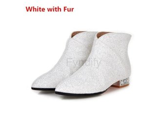 Dam Boots Woman Winter Warm Boots Large White with Fur 40