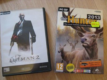 PC-spel-paket: The Hunter (i pappfodral) + Hitman 2.