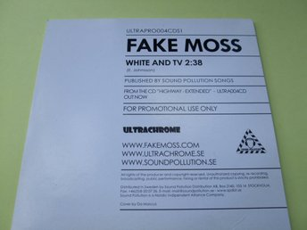 Fake Moss - White And TV - PROMO - 2007 - CD-SINGEL