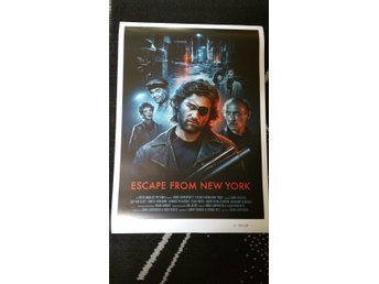 Escape From New York(1981) Film Poster Signerad av Konstnären Brian Taylor