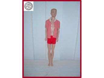 Ken Barbie by Mattel 1960 stämplad Hawthorne California