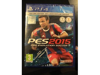 PES 2015 - DAY ONE EDITION / PLAYSTATION 4 PS4 / HELT NYTT & INPLASTAT