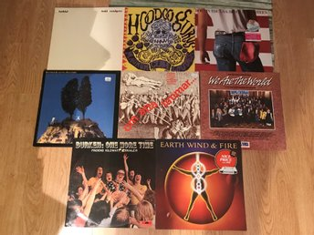 LP-Paket 8st Rock Pop Blandat Todd Rundgren Elvis Costello Mfl