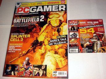 PC GAMER  Nr91 HELT NY m DVD  JULI 2004  BATTLEFIELD 2  mm.