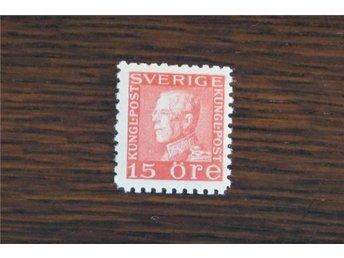 F 177 Ca *.Gustaf V profil vänster.15 öre röd typ II Kv140:- - Göteborg - F 177 Ca *.Gustaf V profil vänster.15 öre röd typ II Kv140:- - Göteborg