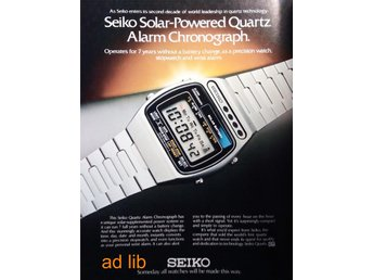 SEIKO - SOLAR POWERED QUARTZ TIDNINGSANNONS Retro 1979