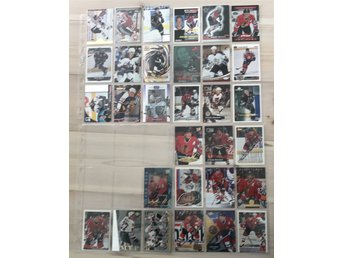 Jeremy Roenick LOT! 31st hockeybilder Hockeykort samlarkort Chicago Blackhawks