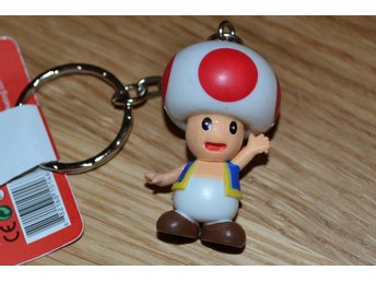 Toad 3D Mini Nyckelring (Super Mario) Nintendo Officiell 3D Ny
