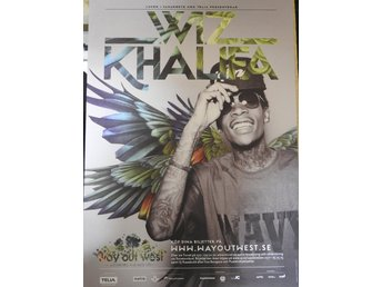 Poster Wiz Khalifa Way out West i toppskick