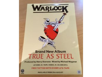 WARLOCK TRUE AS STEEL 1986  PHOTO POSTER