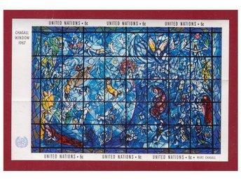 UN New York. Chagall Window 1967 minisheet. - Karlshamn - UN New York. Chagall Window 1967 minisheet. - Karlshamn