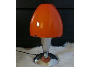 Bordslampa I Orange Glaskupa - Kramfors - Bordslampa I Orange Glaskupa - Kramfors