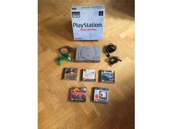 Playstation 1/PSone + 5 spel