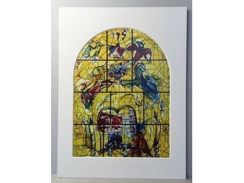 Marc Chagall – Glasfönster in Jerusalem 3/12, färgoffset - Huddinge - Marc Chagall – Glasfönster in Jerusalem 3/12, färgoffset - Huddinge