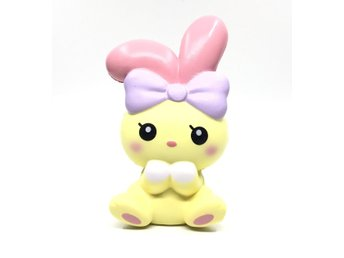 Original ibloom angel bunny squishy yellow colour soft slow rising toys scented