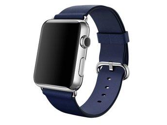 Javascript är inaktiverat. - Ljungby - Klassiskt Spänne till Apple Watch 42 mm. Klassisk design i läder med spänne i rostfritt stål. Det här armbandet med sin klassiska design tillverkas av läder som åldras naturligt och med tiden får en vacker patina. Färg: Blue Storlek: 42 - Ljungby