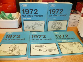 1972 FORD , LINCOLN , MERCURY Shop Manual , Verkstadshandbok , REPRO!!!!!