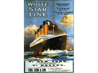 RMS TITANIC RMS OLYMPIC JUNGFRU RESA MARIN ENGELSK POSTER A1