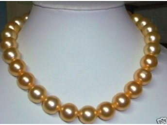 Beautiful 10mm gold pearl necklace - örebro - Beautiful 10mm gold pearl necklace - örebro