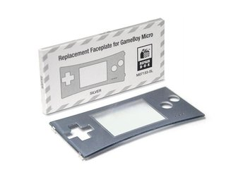 Game Boy Micro Replacement Faceplate (Silver)